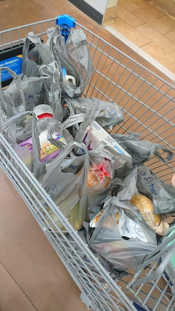Voor elk gekocht product een tasje..